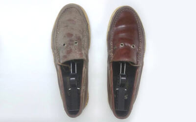 1 Pasang Sepatu Leather Shoes Cleaning