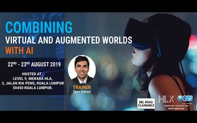 (Jul 22 - 23, 2019) 2-Day Combining Virtual and Augmented Worlds with AI Workshop for 1 Person