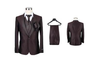 Paket A : 1 Stel Jas ( 1 Jas + Celana Bahan ) Bahan Italian Wool / English Wool