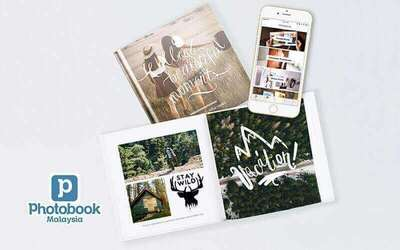 Photobook App Exclusive: Personalised 6˝x 6˝ Simple Imagewrap Hardcover Photobook (20 Pages)