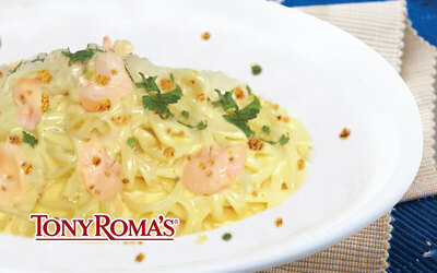 Tony Roma's Salted Egg Shrimp Pasta with One (1) Sarsaparilla Float for 1 Person