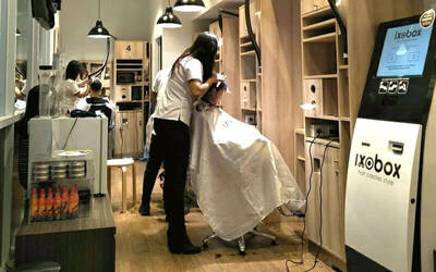 1x Hair Cut + Hair Cleaning by Ixoair