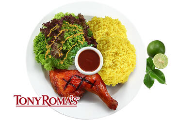 [Fave Exclusive] Tony Roma's JamuSelera Tempting Tom Yum BBQ Quarter Chicken Meal for 1 Person