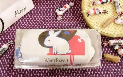 One (1) White Rabbit Chocolate Cake with Rabbit Bag
