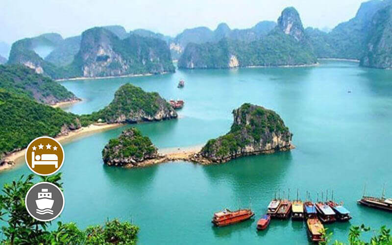 Hanoi: 5D4N Hanoi-Halong-Sapa Stay at Flower Garden / Mon Regency Hotel + Day Cruise for 1 Person