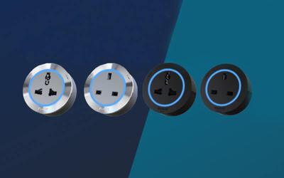 Four (4) Eubiq Standard ITL4 Power Adaptors (Black)