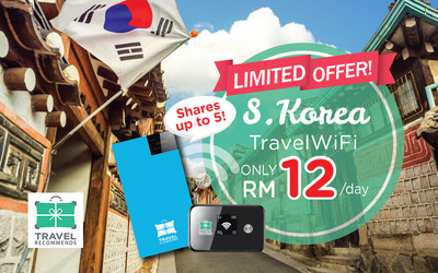 Promo Code for 60% Off 4G Unlimited Travel WiFi in South Korea