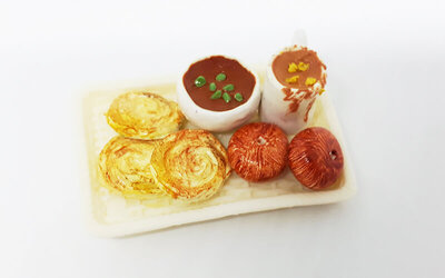 2-Hour Beginner's Miniature Clay Indian Cuisine Workshop for 1 Person