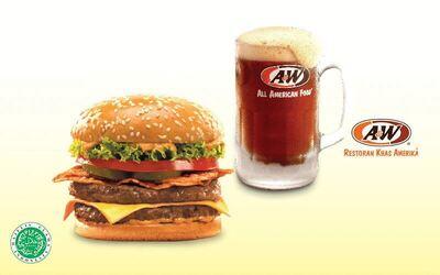 Mozza Burger dan A&W® RB untuk 1 orang