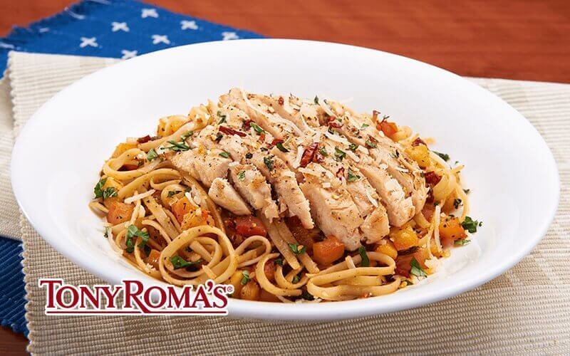 [19.19] Tony Roma's Fave-bulous February: One (1) Spicy Chicken Pasta / Fish and Fries / Chicken Tenderloin Platter
