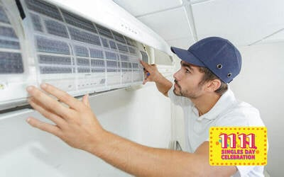 [11.11] Air-Conditioner Cleaning with 1-Month Warranty for 2 Units