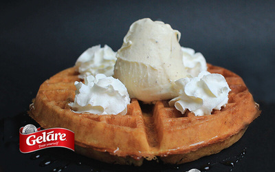 1-For-1 Regular Waffle A la Mode with Single Scoop Ice Cream