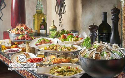 Sheraton Imperial KL: Saturday Mediterranean Seafood Galore A la Carte Dinner Buffet at Villa Danieli for 1 Person