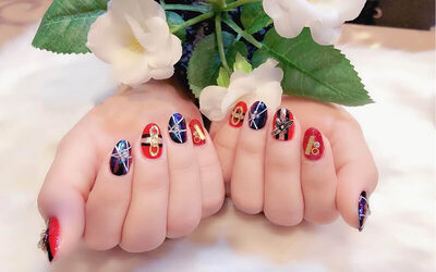 Gel Manicure with Cat Eye Design / Two (2) Nail Art for 1 Person