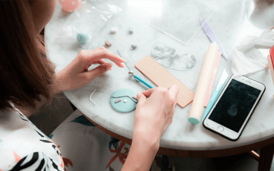 [Flash] 3-Hour Necklace and Earring Polymer Clay Making Workshop with Tea and Cake for 1 Person