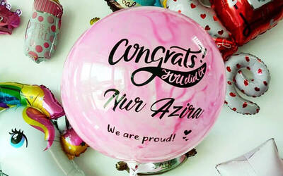 "Workshop for One (1) 18"" Personalised Bubble Balloon With Wording for 1 Child"