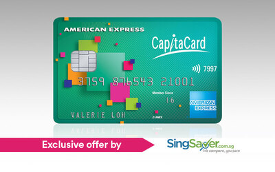 Apply for an American Express CapitaCard and Get Up to $360 Welcome Credits