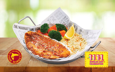 [11.11] The Manhattan FISH MARKET: One (1) Mediterranean Baked Dory / Spicy Baked Dory for 1 Person