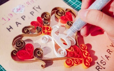 [V-Day 2019] DIY Gift Card with Art Craft Material Buffet