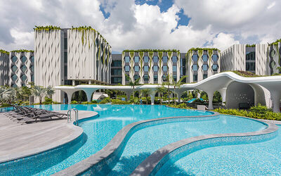 Village Hotel at Sentosa: (Sun - Thu) 2D1N Stay in Deluxe Room with Pool View for 2 People