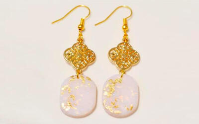 [CNY] (Jan 26, 2020) Gold Collection Polymer Clay Earring and Postcard Design Workshop for 1 Person