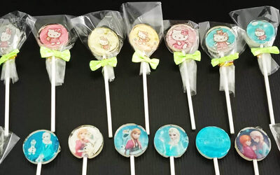 Lollipop Isomalt Sugar-Free Candy Cartoon Stick