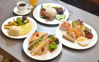 Breakfast Meal with Free Flow Coffee / Tea for 1 Person