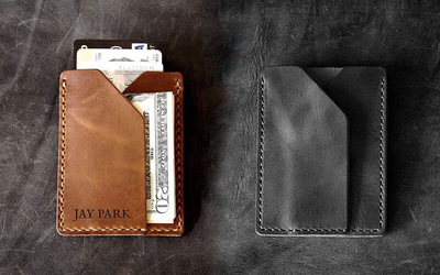 120-Minute Monaco Leather Slim Card Holder Crafting Workshop for 2 People