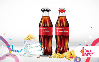 Prai: mmCineplexes Movie Bundle with Limited Coca-Cola Bottle Couple Set