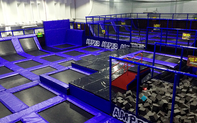 AMPED Trampoline Park Singapore featured image.