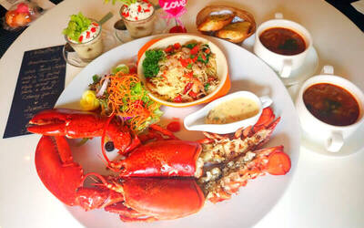 3-Course Canadian Lobster Set Meal for 2 People