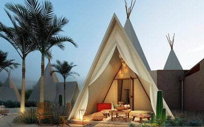 Bintan: 2D1N Glamping Stay at Anmon Bintan + 2-Way Ferry Transfer for 1 Person
