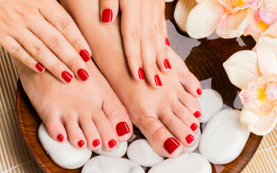 Manicure & Pedicure + Gel Nail Polish + Scrub & Massage