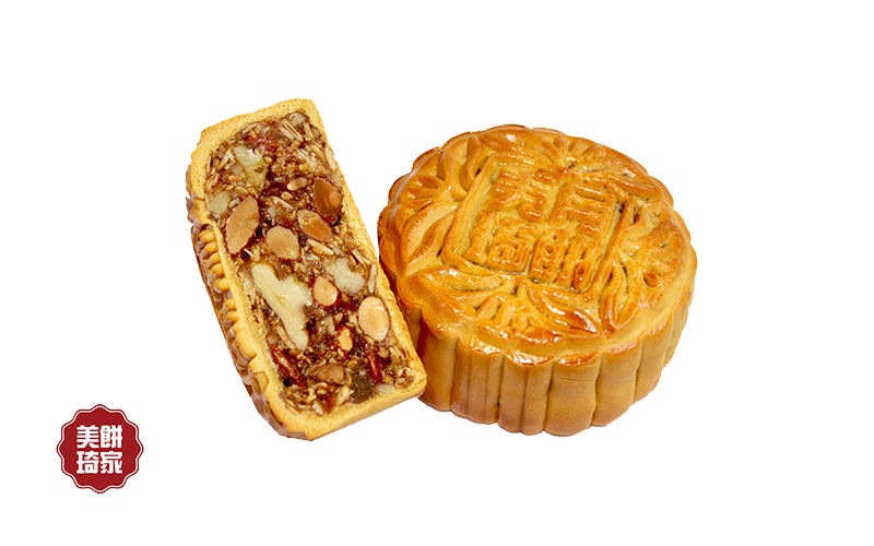 [Mid-Autumn] 2-Piece Premium Milky Way Mix Nut Mooncake with Delivery Option