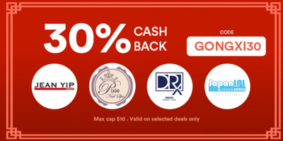 WE LOVE 30% Cashback