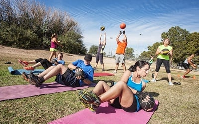 Outdoor Group Workout for 3 People (8 Classes)