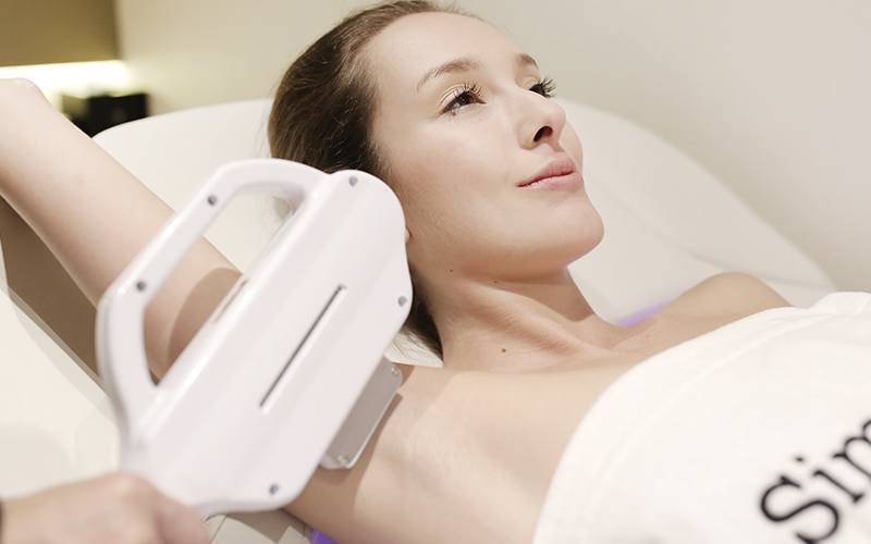 Underarm SHR Laser Hair Removal (12 Sessions) with Microdermabrasion Peel  for 1 Person