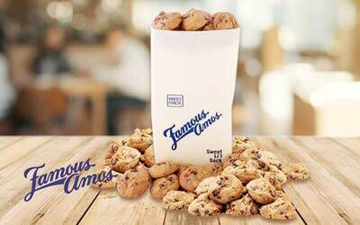 Famous Amos: One (1) 250g Bag of Assorted Cookies