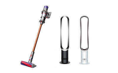 [11.11 Sale] Special Bundle: Dyson V10 Absolute Vacuum Cleaner + Cyclone V10 Dok + AM07 White Tower Fan
