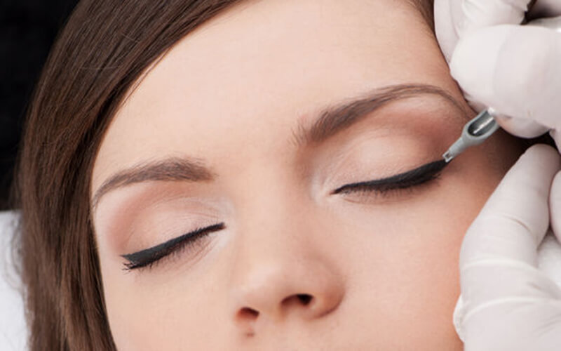 Korean Natural Eyeliner Embroidery with One (1) Touch-Up for 1 Person