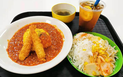 Ebi Fry Chilli Omu Rice Set for 1 Person