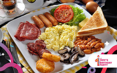 [Fave's Bday] Big Breakfast Meal for 1 Person