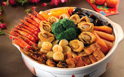 [CNY] Lunar New Year Pen Cai with Fresh Abalone for 8 People (Takeaway)
