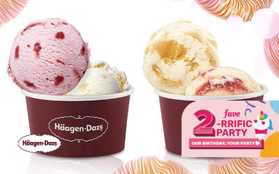 [Fave Birthday] (Mon - Fri) Häagen-Dazs: Buy 1 Free 1 Cup of Double Scoop Ice Cream