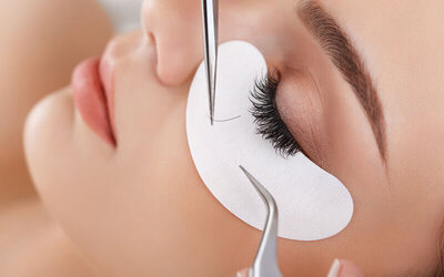 80-Strand Lash-by-Lash Natural Look Eyelash Extension with Eyebrow Shaping for 1 Person