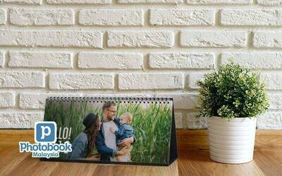 "Two (2) Identical 11"" x 5"" Personalised Desk Calendar"