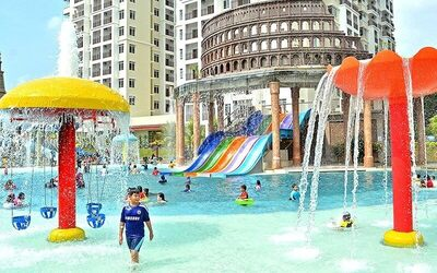 Malacca: 2D1N Stay in 3-Bedroom Apartment with Breakfast + Waterpark Tickets + Archery for 6 People