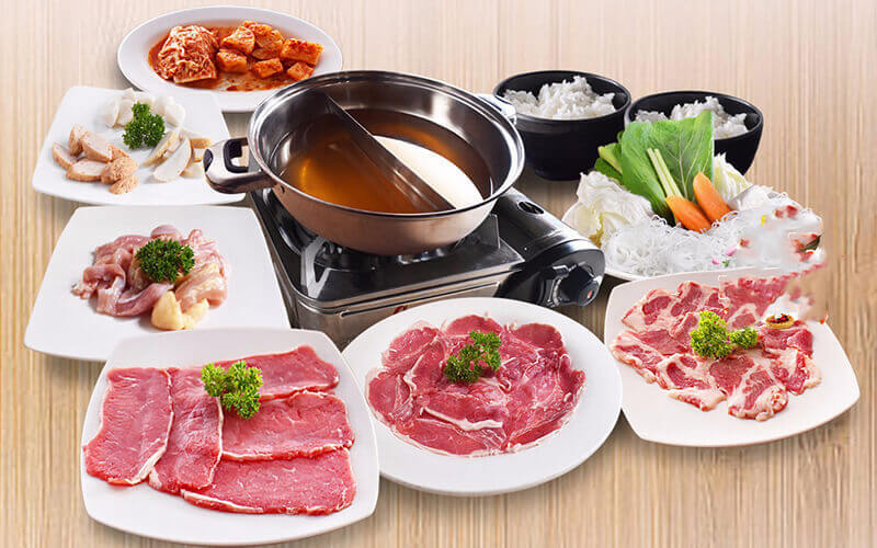 All You Can Eat 2 in 1 (Yakiniku + Steam Boat) for 1pax