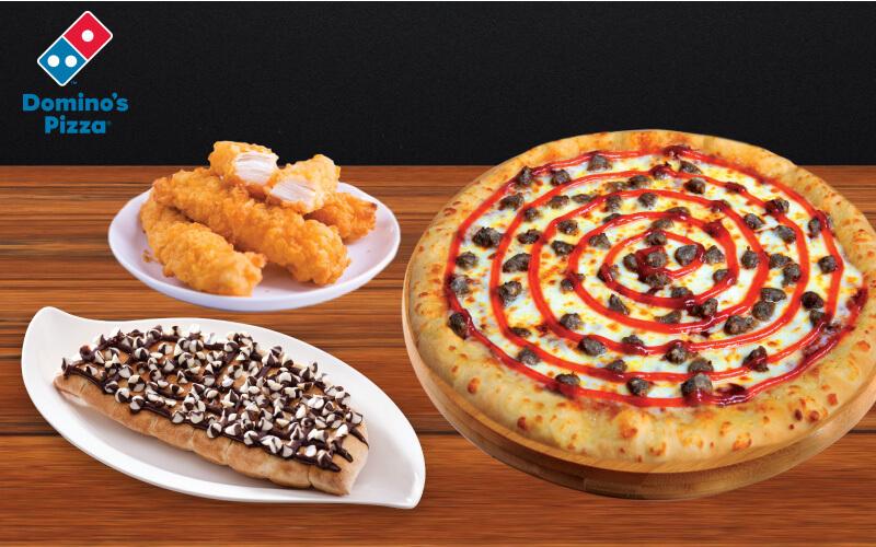 1 Medium HT Super Value Pizza + 1 Chicken Sides + 1 Dessert