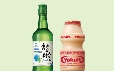 One (1) Yakult Soju Tower with Mentaiko Fries